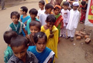 Children at a School Rally